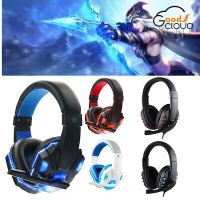 New 3.5mm Gaming Headset Stereo Surround Headphone /Mic For XBOX Laptop PC PS4