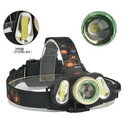 XPE+COB 60000LM Multi-function Flashlight Mechanial Zoomable Torch Camping ZH