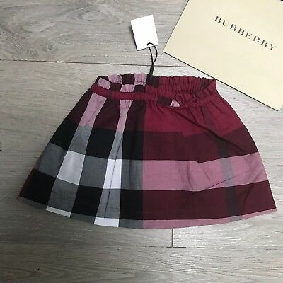 BURBERRY skirt Girls 6 months RRP £85 Burgandy Pink Burberry Check 100%Genuine