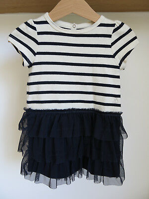 54ed14ccb0a40 Robe 12 MOIS PETIT BATEAU rayures mariniere et tulle Bebe Fille