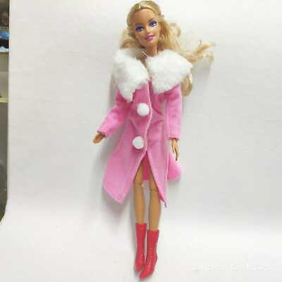 """Pink Winter overcoat clothes Outfit Suit For 11.5"""" Barbie Dolls"""