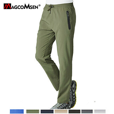 Outdoor Mens Quick Dry High Elastic Pants Hiking Trekking Hunting Pants Trousers