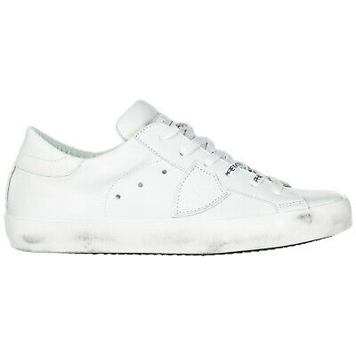 f7a98a00f4be Philippe Model Women's Shoes Leather Trainers Sneakers New Paris White 16F