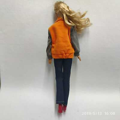 "Orange Winter Top Fashion + Jean Pants Clothes Outfit for 11.5"" Inch Barbie Doll"