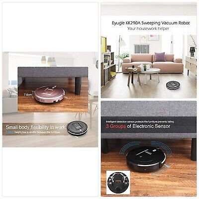 EYUGLE KK290A- Robotic Vacuum Cleaner with High Power Suction (3 Cleaning Modes,