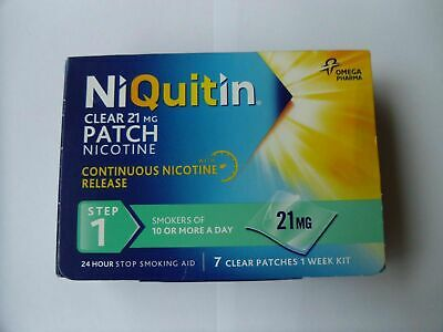 NIQUITIN CLEAR 21mg Patch - Step 1 X 8 Patches