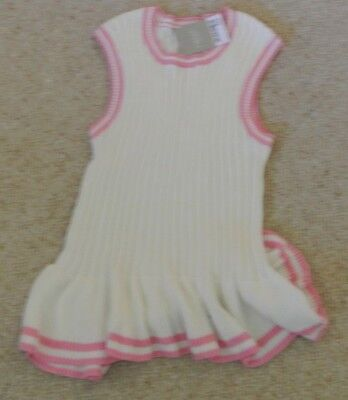 New Next Girls 100% cotton Knitted Top Cream/pink  15 years