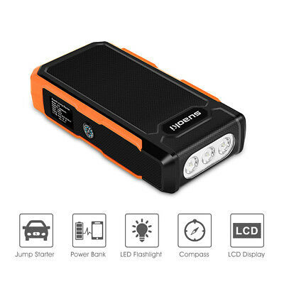 3-e-1 Suaoki 20000mAh 800A 12V Auto Batterie Voiture Jump Chargeur Booster LCD