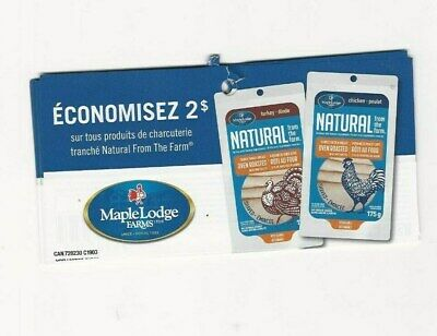 Coupons - 14 X Maple Lodge Farms Natural Coupons