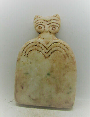 Very Rare Ancient Syro Tel-Brak Stone Carved All Seeing Eye Idol 6000Bc