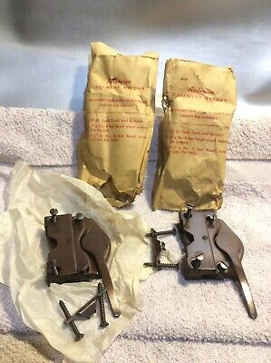 2 New Vintage Anderson window sash lock and latch casement 1954