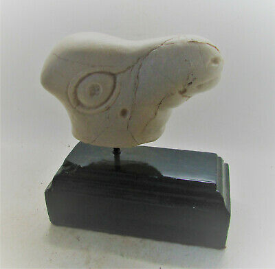Scarce Circa 3000-2000Bce Ancient Near Eastern Stone Ram Head Statue Fragment