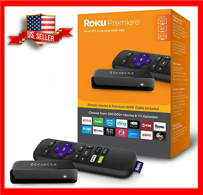 NEW Roku Ultra Premiere HD/4K/HDR Streaming Media Player w/ Remote & HDMI Cable