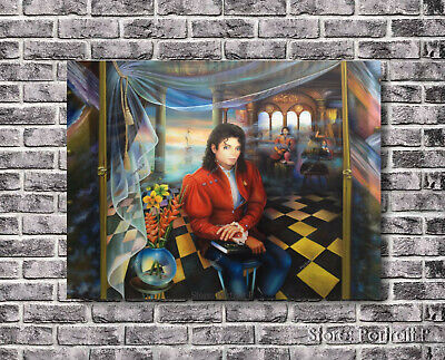 Michael Jackson Oil Painting Portrait King Pop Hand-Painted Art on Canvas 30x40