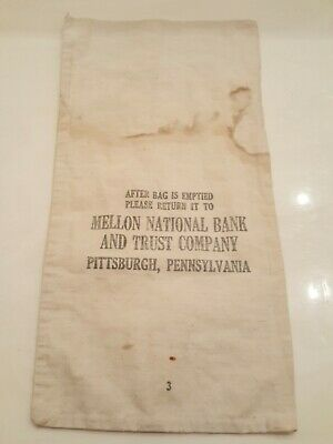 Banking & Insurance 000 Vintage The Peoples Trust Co Coin Bag Martinsburg Wva Money