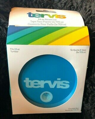 Tervis Tumbler Teal Turquoise with  Lid 24oz New Nib