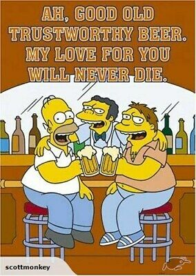 THE SIMPSONS - Moes Tavern * Large Poster - h58