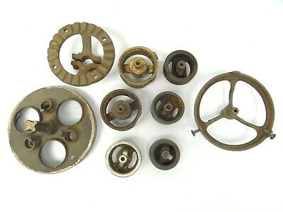 Mixed Antique Lot Old Brass Iron Metal Gas Lamp Parts Fixtures Lighting Mounts
