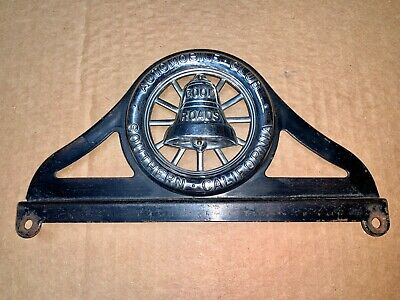 "Automobile Club of Southern California ""Good Roads"" License Plate Topper.VINTAGE"