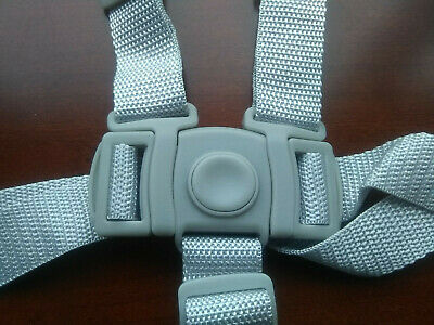NEW Graco High Chair Seat Belt Strap 5 pt Harness Replacement Gray