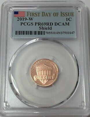 2019-W PCGS PR69 LINCOLN CENT PROOF FIRST DAY ISSUE FLAG 69 SHIPS NOW! #Su147
