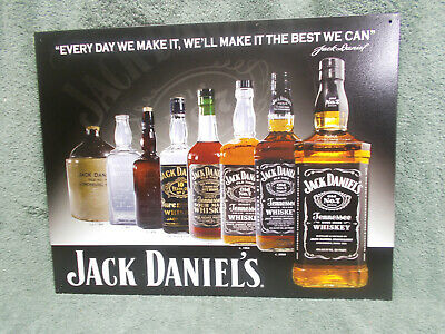 """Jack Daniels Label Whiskey Large 18.5/"""" by 26/"""" Bar Wall Decor Metal Tin Sign"""