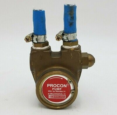 Procon 132A070F11GC Rotary Vane Water Pump Brass Pneumatic KTR-Rotex 15 Used
