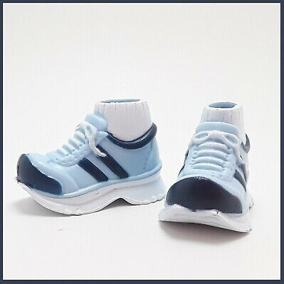 My Scene Barbie FASHION Tennis Shoes BLUE Stripes Molded Socks ATHLETIC
