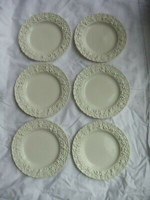 6 - Wedgwood Queensware Cream on Cream SHELL EDGE BREAD PLATES 6 1/4""