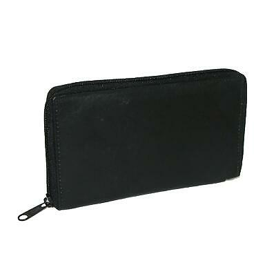 New CTM Men's Leather Zippered Credit Card Case
