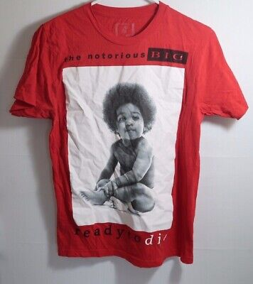 e25521f8 Notorious BIG Biggie T Shirt Ready To Die Baby Brooklyn Red - Men's Small