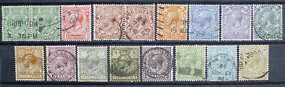 GB KGV 1912 Royal Cypher SG351 -SG396 Set of 15 Fine Used
