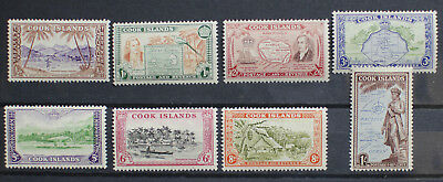 Cook Islands 1949 KGVI Pictorial set to 1/-. MNH