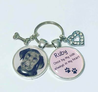 Personalised dog photo keyring Pets Memory Loss Be Loved bereavement pet loss