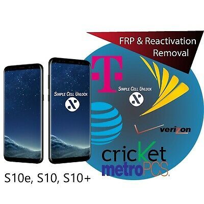 INSTANT Google Account Removal/Reset FRP All Samsung Galaxy S10E, S10 & S10 Plus