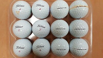 24 Used AAAA/Near Mint Condition Titleist Pro V1x 2018 Golf Balls