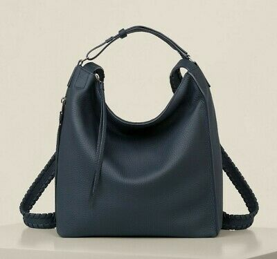 AllSaints Kita Small Backpack Bag in Marine Blue (Leather/Womens/Tote/Hangbag)