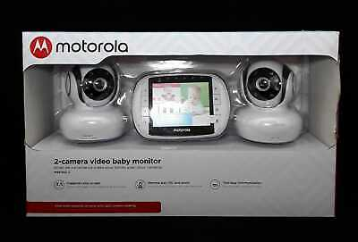 Motorola MBP36S-2 Video Baby Monitor with 2 Cameras, 3.5 Inch LCD Screen - (CR)