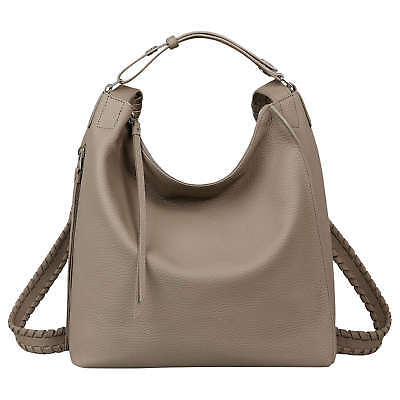 AllSaints Kita Small Backpack Bag in Taupe Grey (Leather/Womens/Tote/Handbag)New