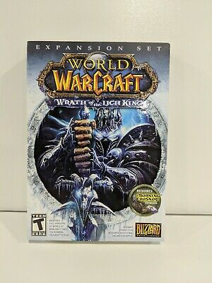 World Of Warcraft Wrath Of The Lich King Expansion Used PC CD-ROM Game