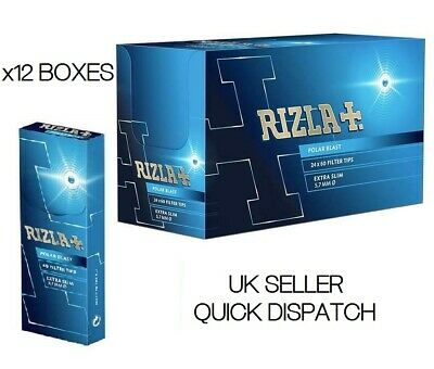 12 X 60 Filter Tips Rizla Polar Blast Crushball Extra Slim Filter Tips 5.7Mm New