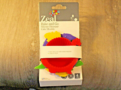 Dinosaur Theme Silicone Cupcake Moulds by Zeal - still in packing - Rawrr!