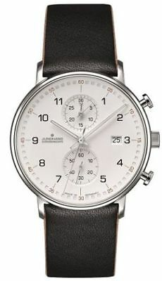 💎 RIVER EDGE JEWELERS Junghans 041/4771.00 FORM C Chronoscope 40mm Case Watch