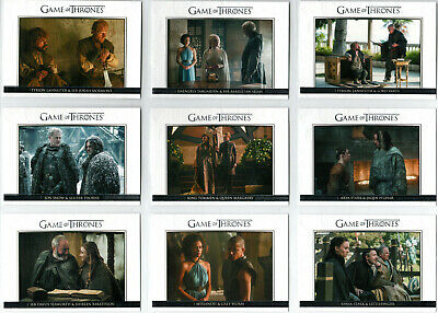 Game Of Thrones Season 5 Relationships Insert Card Set Dl21-Dl30 (10)