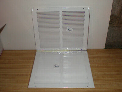 "Lot Of 2 Hart & Cooley 12"" X 10"" White Steel Return Air Grille Vent Wall Ceiling"