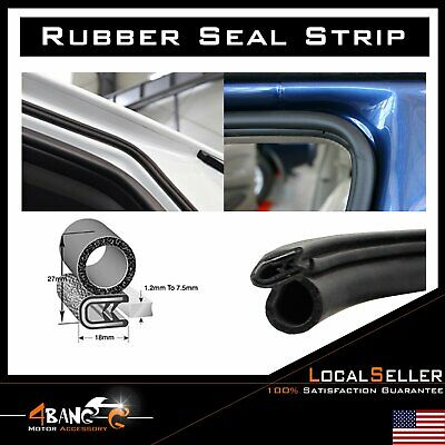 Weather Stripping Rubber Seal Car Door Edge Trim Guard Protector Camper RV 120""