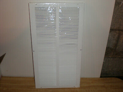 "Hart & Cooley 10"" X 20"" White Steel Return Air Grille Vent Hvac"