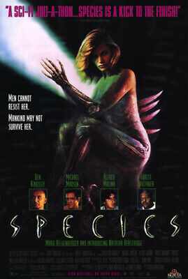 Species (1995) original video poster - single-sided - rolled