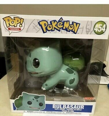 "Funko Pop Games Pokemon 10 inch Bulbasaur Target Exclusive! 454 10"" Rare"
