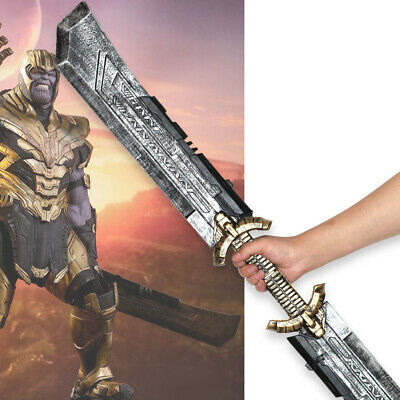 Avengers: Endgame 4 Thanos DOUBLE-EDGED SWORD Cosplay Prop Halloween PU Figure